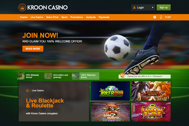 Screenshot Kroon Casino